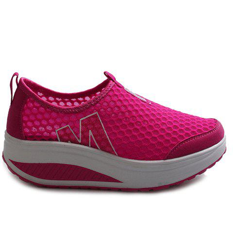 Latest Casual Letter and Splicing Design Athletic Shoes For Women - 36 ROSE Mobile