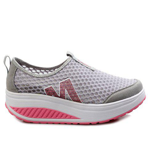 Buy Casual Letter and Splicing Design Athletic Shoes For Women - 39 GRAY Mobile