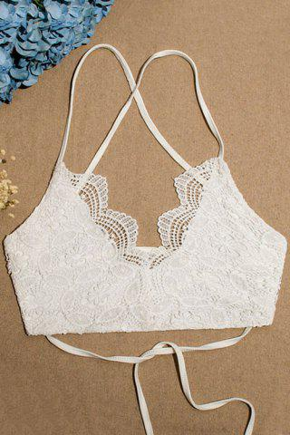 Unique Stylish Spaghetti Straps Lace Lace-Up Women's Tube Top