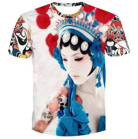 Store Fashion Men's Pullover Peking Opera Actress Printed T-Shirt