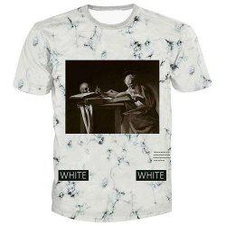 Men's Fashion Pullover Artist Printed T-Shirt -