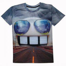 Casual Round Collar Teeth Printed T-Shirt For Men