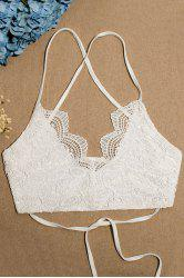 Stylish Spaghetti Straps Lace Lace-Up Women's Tube Top -