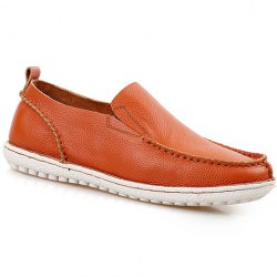 Simple Stitching and Solid Color Design Loafers For Men -