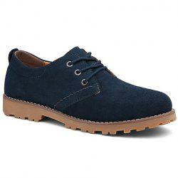 Concise Lace-Up and Suede  Design Casual Shoes For Men -