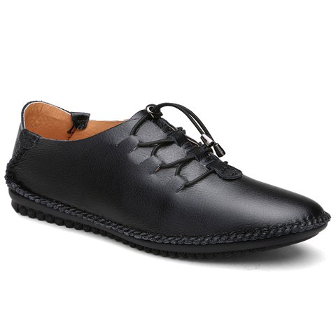 Buy Concise Solid Color and Elastic Design Casual Shoes For Men