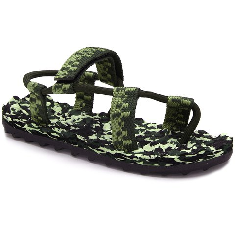 Outfits Leisure Camouflage Print and Color Matching Design Sandals For Men