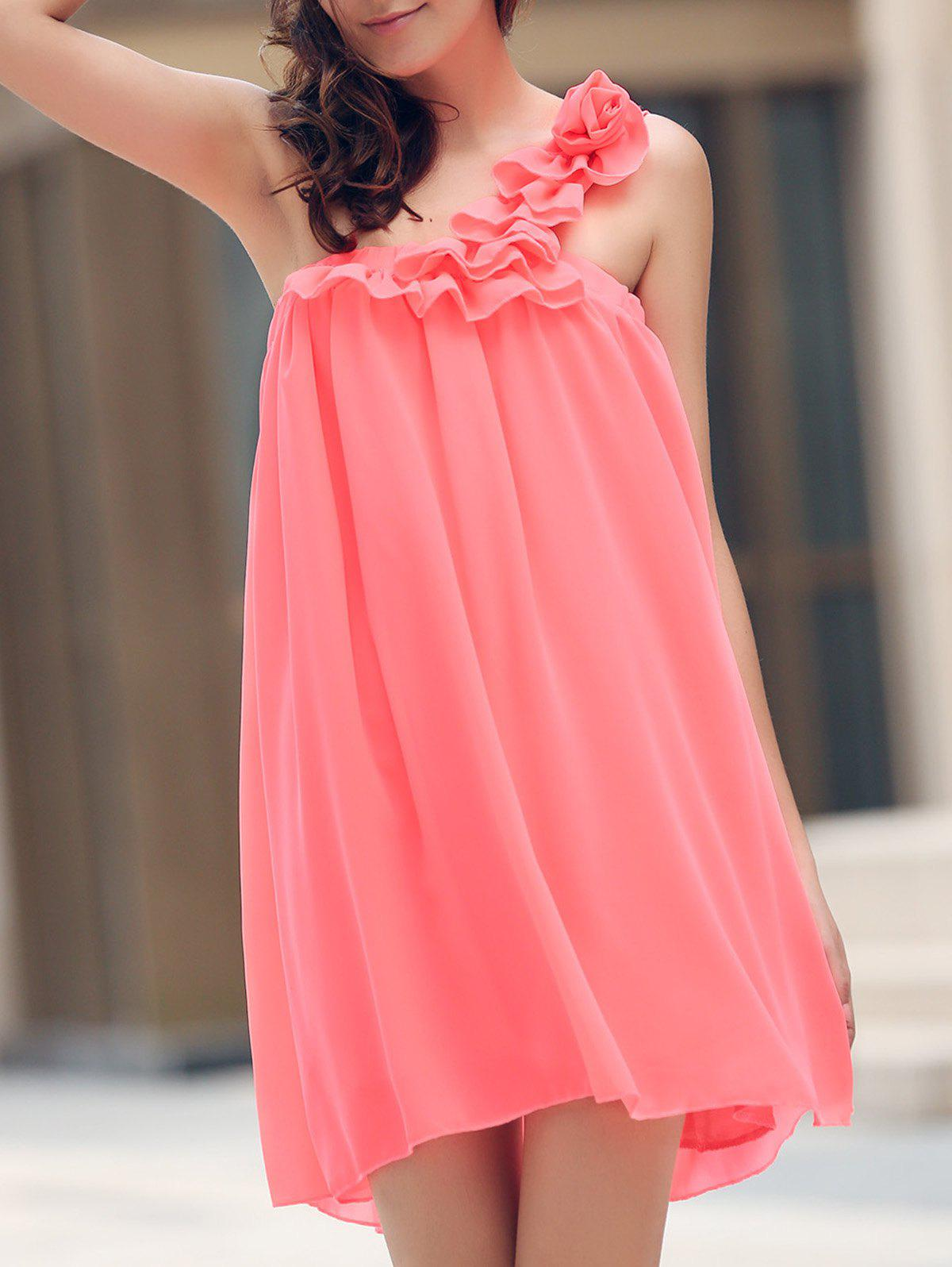 Store Mini One Shoulder Maid of Honor Dress