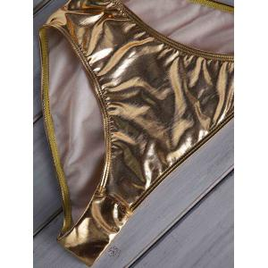 Women's Halter Beach Gold  Metallic Bikini -