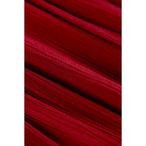 Maxi 3/4 Sleeve Drawstring Red Long Dress -