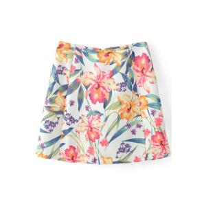 Trendy Floral Print Cropped T-Shirt and Mini Skirt Twinset For Women -