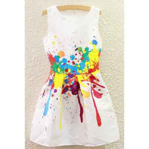Cute Round Collar Colorful Summer Dress For Women