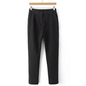 Casual High Waist Striped Pencil Pants For Women