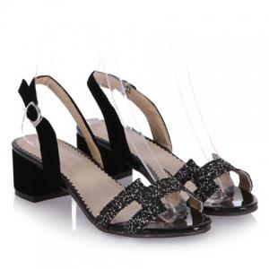 Fashionable Chunky Heel and Sequined Design Sandals For Women -