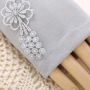 Pair of Chic Flower Embroidery Lace Edge Long Fingerless Gloves For Women -
