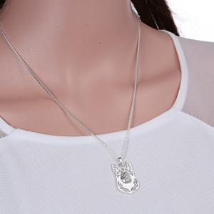 Hollow Out Herding Dog Alloy Pendant Necklace -