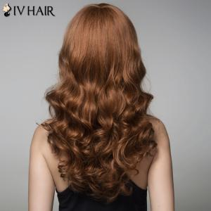 Fluffy Siv Hair Wavy Side Bang Human Hair Wig For Women -