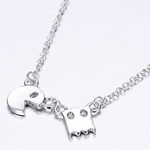 Stylish Cartoon Game Pac-Man Alloy Pendant Necklace For Women -