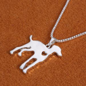 Dog Heart Hollow Out Pendant Necklace -