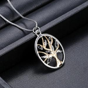 Retro Tree Hollow Out Pendant Necklace -