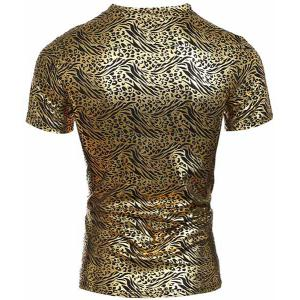 Modish V-Neck Stamping Design Short Sleeve Men's T-Shirt -