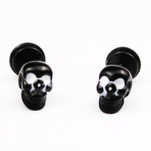 Pair of Vintage Skull Earrings For Men