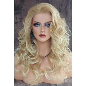 Shaggy Curly Long Capless Charming Blonde Heat Resistant Synthetic Wig For Women