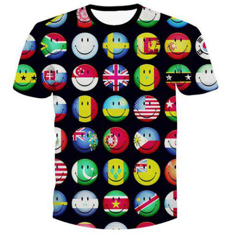 Latest Fashion Pullover Emotion Printed Men's T-Shirt