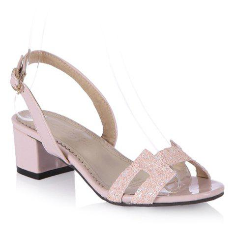 New Chunky Heel Slingback Sandals