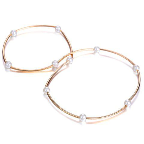 Buy Faux Pearls Alloy Pendant Bracelet - ROSE GOLD  Mobile