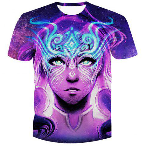 Latest Fashion Pullover Figure Printed Men's T-Shirt
