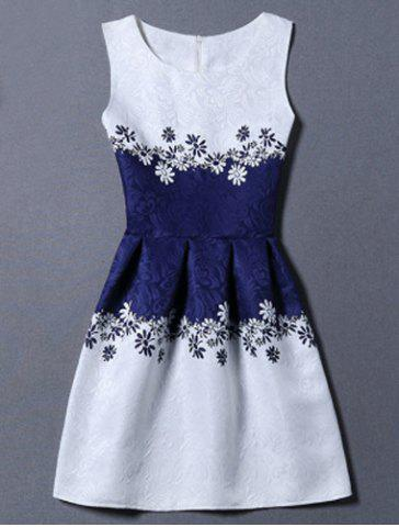 Buy Sunflower Jacquard A Line Cocktail Dress WHITE M