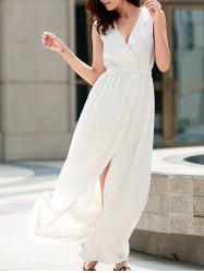 Flowy Summer Chiffon Split Maxi Dress