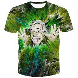 Fashion Pullover Einstein Printed Character T-Shirt -
