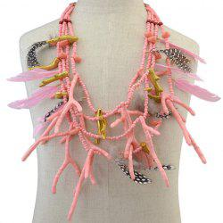Bohemian Multilayer Feather Antlers Beads Necklace -