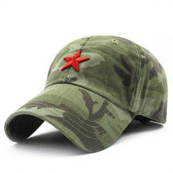 Stylish Five-Pointed Star Shape Embroidery Camouflage Pattern Baseball Cap For Men -