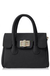 Graceful Hasp and Solid Color Design Tote Bag For Women