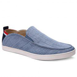 Simple Elastic and Cloth Design Casual Shoes For Men -