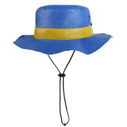 Chic Button Drawstring Sun-Resistant Collapsible Bucket Hat For Women -