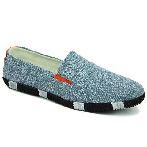Chic Concise Elastic and Color Block Design Canvas Shoes For Men