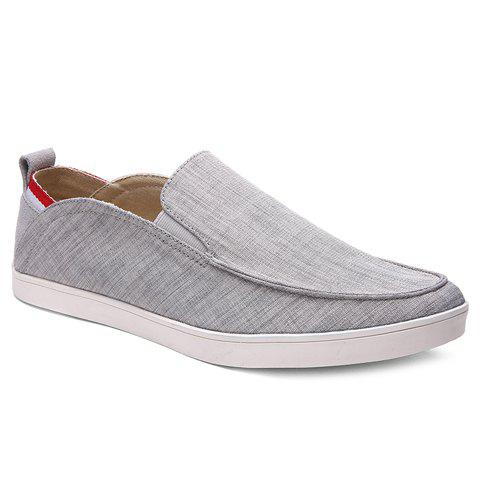 Outfit Simple Elastic and Cloth Design Casual Shoes For Men