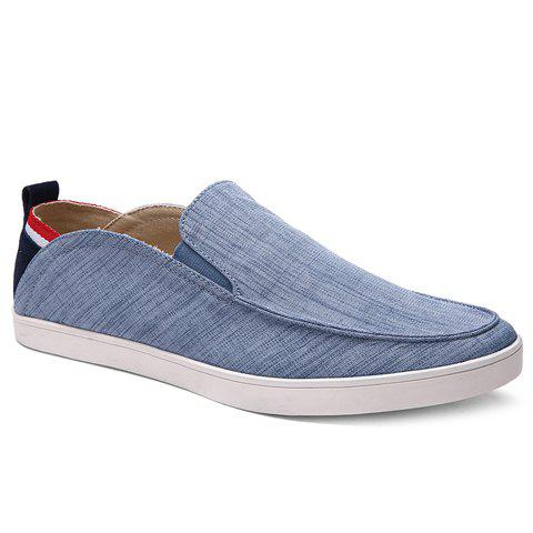 Fancy Simple Elastic and Cloth Design Casual Shoes For Men