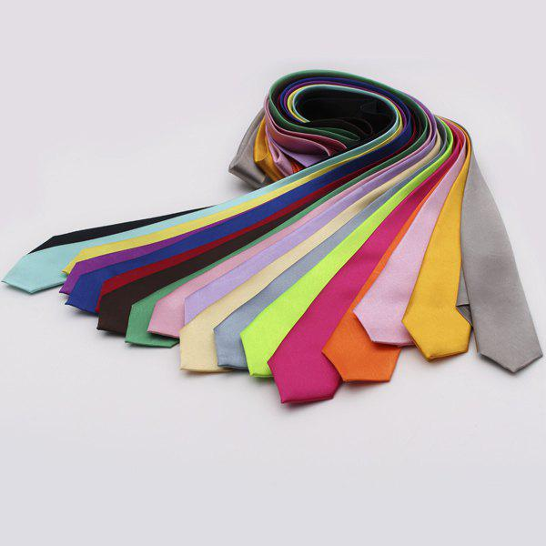 Outfits Stylish Various Candy Colors 5CM Width Tie For Men