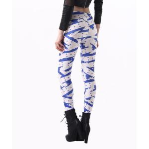Fashionable High Waisted Slimming Yoga Pants For Women - BLUE/WHITE ONE SIZE(FIT SIZE XS TO M)