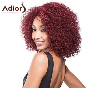 Attractive Medium Dark Red Capless Shaggy Afro Curly Synthetic Adiors Wig For Women -
