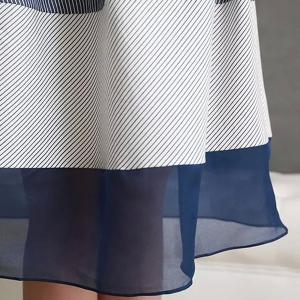 Stylish High-Waisted Pinstriped Skirt For Women -
