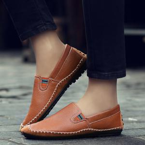 Concise Stitching and Splicing Design Casual Shoes For Men -