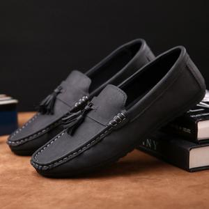 Simple Stitching and Tassels Design Casual Shoes For Men -