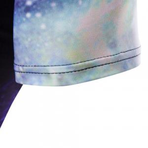 Slim Fit Pullover Universe Printed T-Shirt For Men -