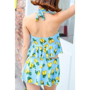 Sweet Halter Floral Hollow Out Women's One-Piece Swimwear -